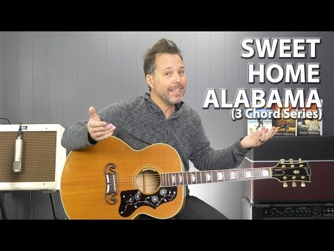 Sweet Home Alabama  Lynyrd Skynyrd  3 Chord Series EASY Guitar Lesson