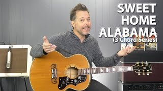 Sweet Home Alabama by Lynyrd Skynyrd - 3 Chord Series EASY Guitar Lesson
