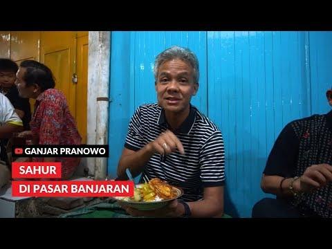 (Ganjar Pranowo) Sahur Di Pasar Banjaran Kabupaten Tegal