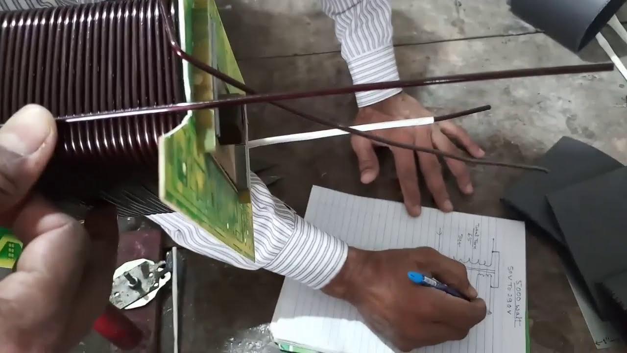 medium resolution of 50v to 290v 5000 watt manual stabilizer transformer coil winding easy at home yt 66