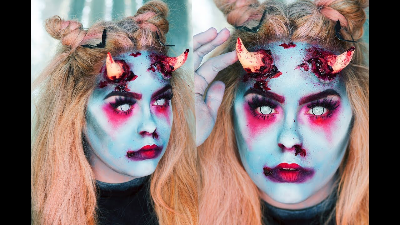 Halloween Makeup Devil Girl.Devil Girl Halloween Makeup Look Nicole Matthews