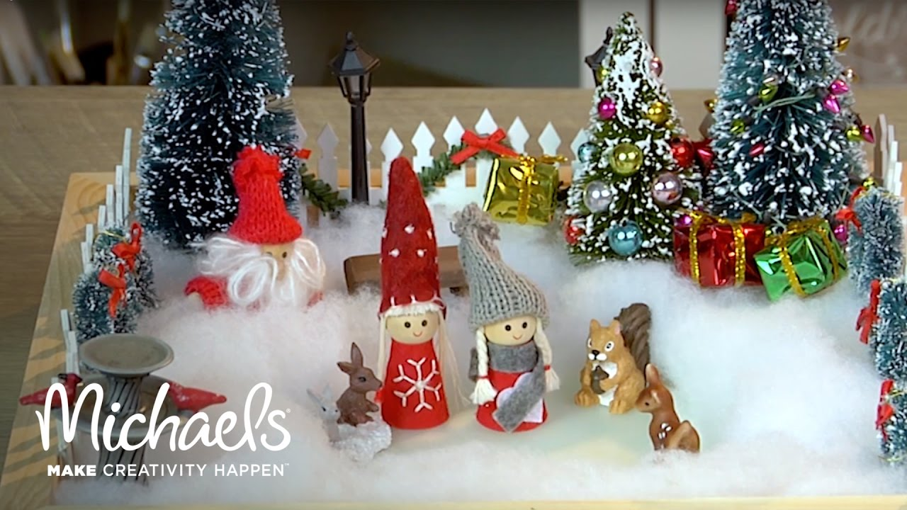 Christmas Miniatures.How To Make A Holiday Scene With Minis Diy Holiday Michaels