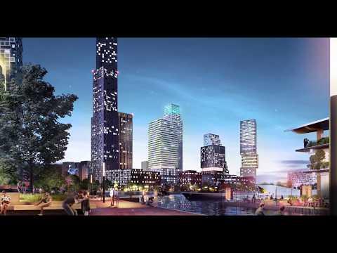Impressie Rijnhaven Rotterdam (Barcode Architects)