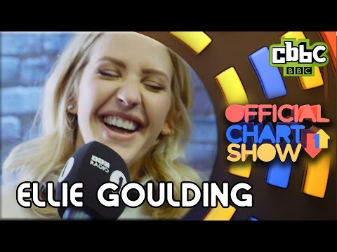 Ellie Goulding hangs out with the CBBC Official Chart Show