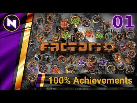 Factorio 100% Achievements #1 LAZY BASTARD START
