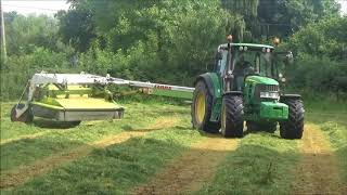 Mowing for 3rd Cut with John Deere 6430 & Claas