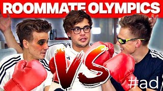 YOUTUBER ROOMMATE OLYMPICS ft. Joe Sugg, Byron Langley & Joshua Pieters