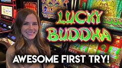 Great Session! First Time Playing Lucky Buddha Slot Machine!