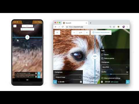 Squoosh 免費線上圖片壓縮工具,Google 推出可離線使用跨平台功能 1