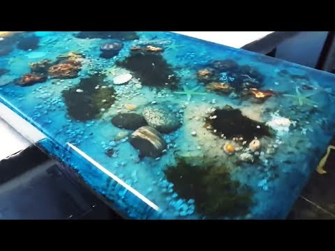 5 Most Amazing Epoxy Resin and Wood Ocean Table - Latest Awesome DIY Woodworking Projects
