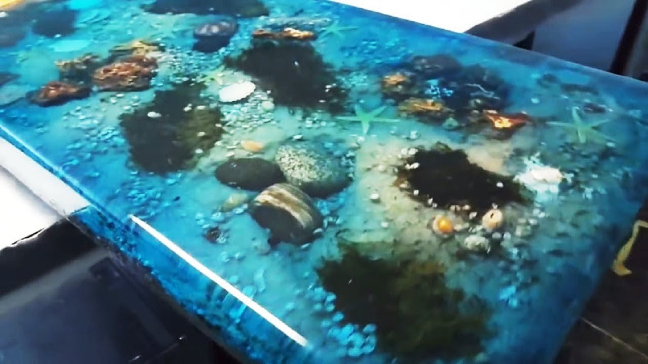 5 Most Amazing Epoxy Resin And Wood Ocean Table Latest Awesome