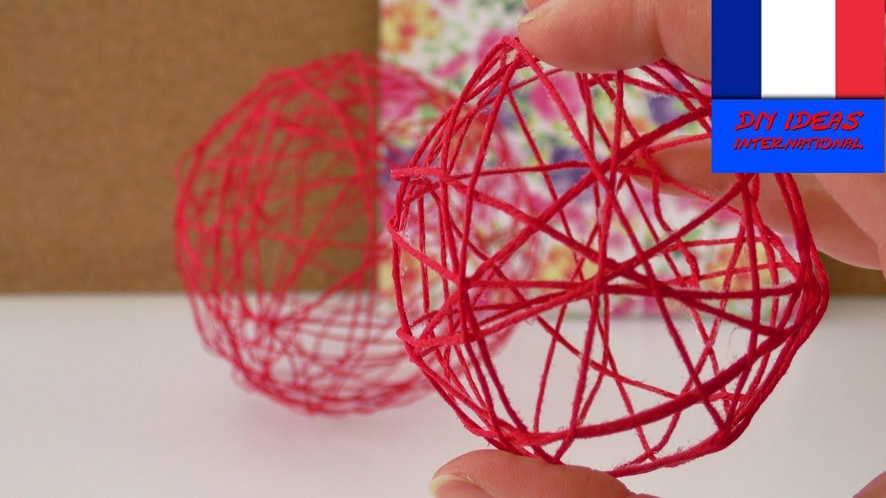 boules de d co en laine d coration printani re avec de la laine des ballons youtube. Black Bedroom Furniture Sets. Home Design Ideas