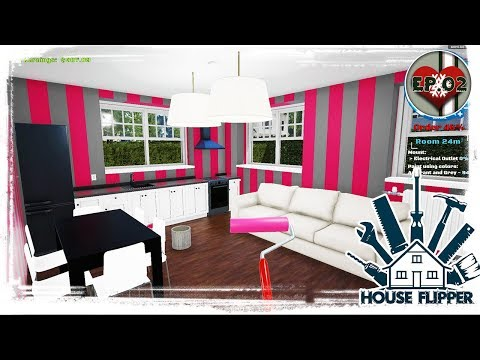 Painting and Knocking Down Walls! DEMOLITION! - House Flipper Beta - Ep. 02