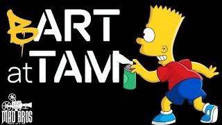 BART AT TAM - THE SIMPSONS ANIMATION  AT TACOMA ART MUSEUM AUG 2019