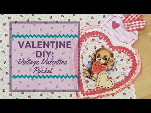 Valentine Diy Vintage Valentine Pocket Gift Card Holder Junk Journal Embellishment