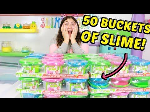 MIXING 50 BUCKETS OF SLIMES!! Slimeatory #530