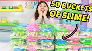 MIXING 50 BUCKETS OF SLIMES!! Slimeatory #530