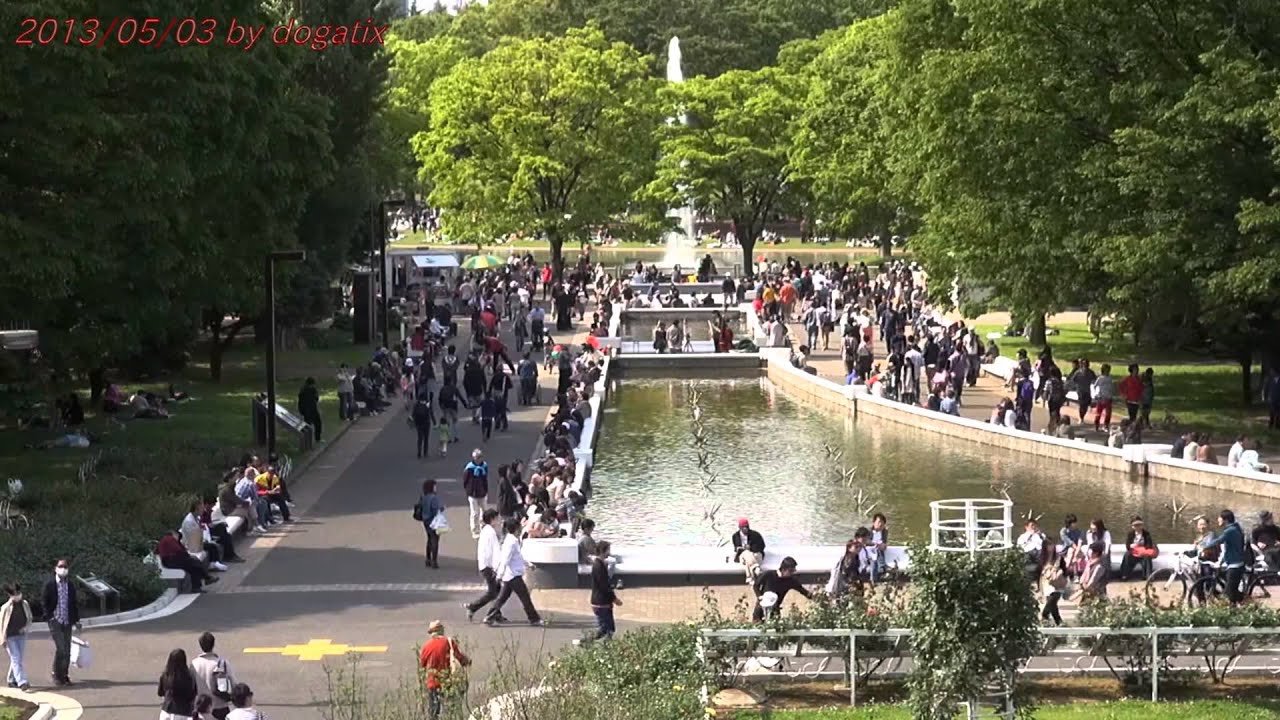 Japan Trip 2013 Tokyo Fountain Yoyogi Park holiday in Shibuya 598 - YouTube