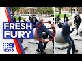 Outrage over police pushing elderly man to ground video