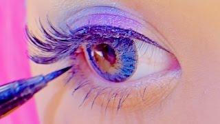 Kawaii big eyes FLASHY COLOR MAKEUP TUTORIAL|紅林大空派手メイク thumbnail