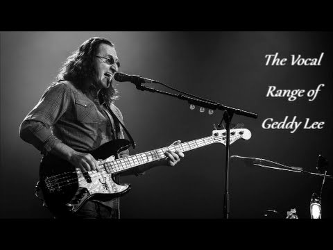 The Vocal Range of Geddy Lee -- C2-B5
