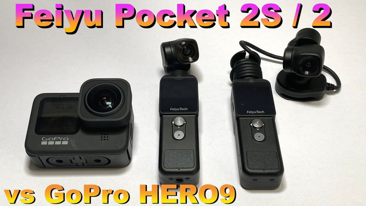 【Feiyu Pocket 2/2S モトブログ】 vs GoPro HERO9 + MAXレンズモジュラー 比較レビュー(maxlens mod)