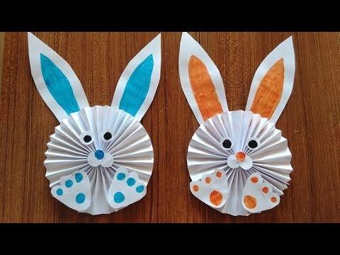 kagittan basit tavsan yapimi cocuklar icin kolay el becerileri how to make a paper easy bunny