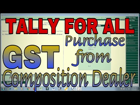 PURCHASE ENTRY from COMPOSITION DEALER under GST in TALLY.ERP9