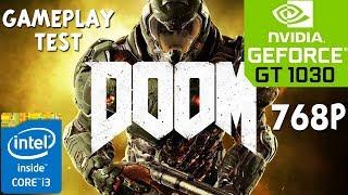 DOOM - Nvidia Geforce GT 1030 - Core i3 4150 - 8GB RAM PC Benchmark Test