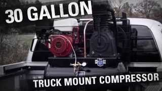 industrial air 30 gallon truck mount 2 stage air compressor