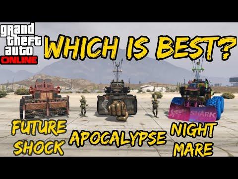 GTA ONLINE : APOCALYPSE VS NIGHTMARE VS FUTURE SHOCK [SASQUATCH] (WHICH IS BEST?)