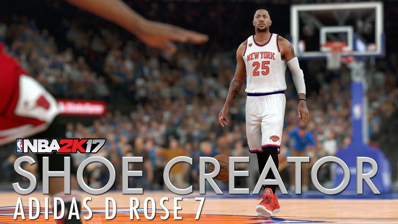 best website 07191 b6e70 NBA 2K17 Shoe Creator  Adidas D Rose 7 - YouTube
