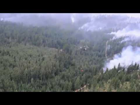 Oregon Army National Guard Fighting Fire