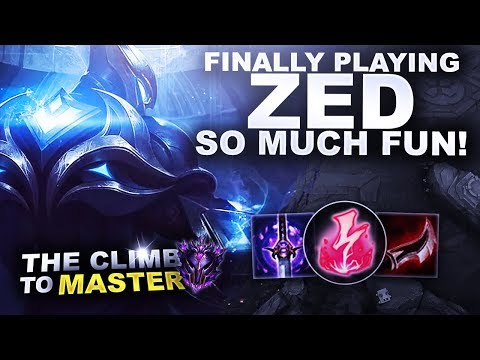 FINALLY PLAYING ZED! SO MUCH FUN! - Climb to Master S9 | League of Legends thumbnail