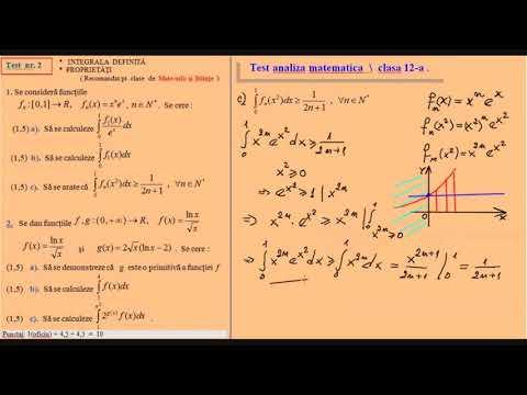 Test De Analiza Matematica Clasa A 12 A Mate Info