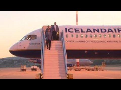 Смотреть В Геленджик прибыла самая удивительная футбольная команда – сборная Исландии - Россия 24 онлайн