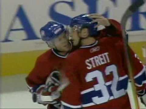 Mark Streit scores his first NHL goal from Andrei Markov pass (2006)