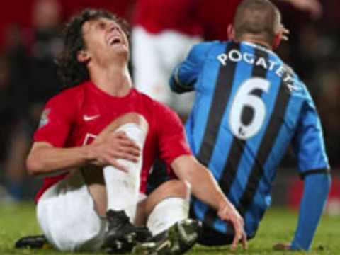 Pogatetz Injures Possebon  !! Awful Tackle Fucks Up His Leg !! Man Utd Vs Boro