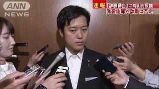「辞職勧告」改めて反論 「戦争で」発言の丸山議員(19/05/20)