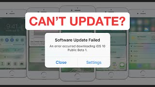 ios10 update failed