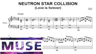 Muse - Neutron star collision (piano sheet music)
