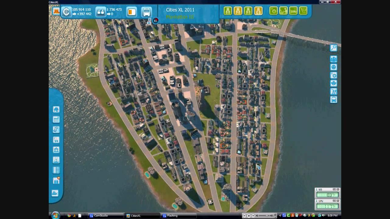 CitiesXL  Gameplay Manhattan Pt  YouTube - New york map cities xl