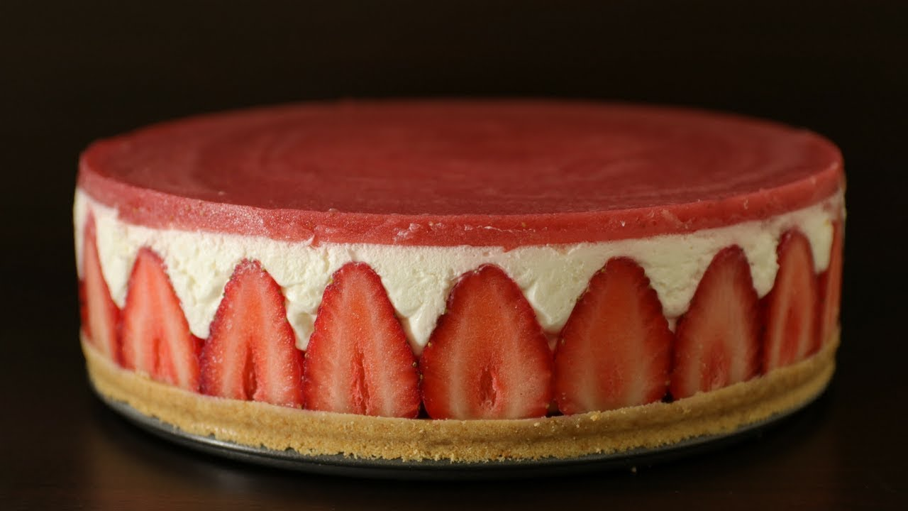 No Bake Strawberry Cheesecake Recipe How To Make Strawberry Cheesecake