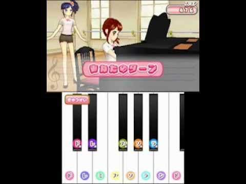 3ds aikatsu lesson game footage