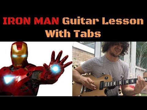 How To Play Iron Man - Black Sabbath Guitar Lesson With Tabs