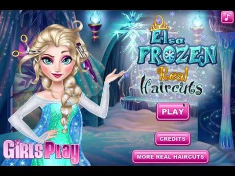 Disney Frozen Princess Elsa Real Haircut and Dress Up Game
