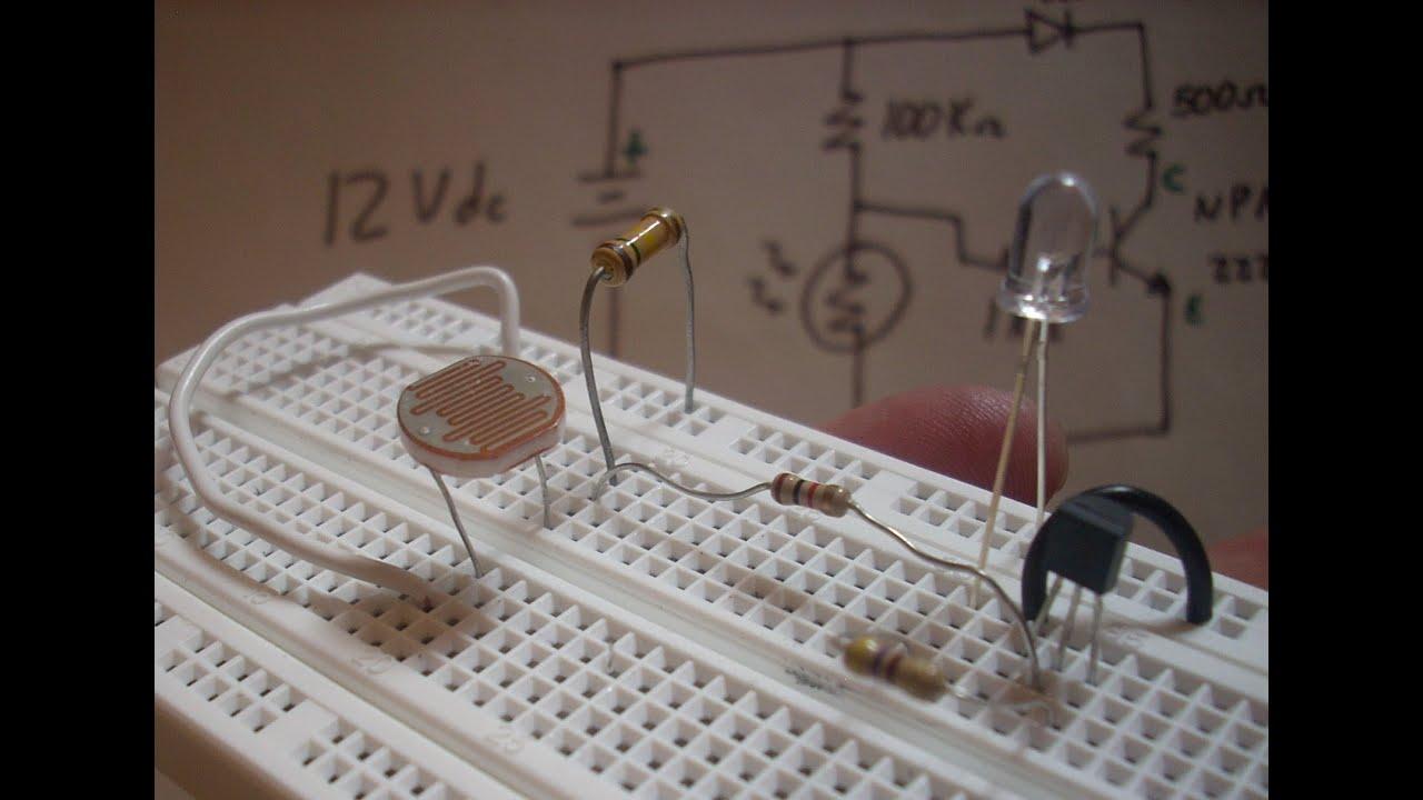 Montaje Detector De Luz Youtube Led Circuito Basado Probador Transistores