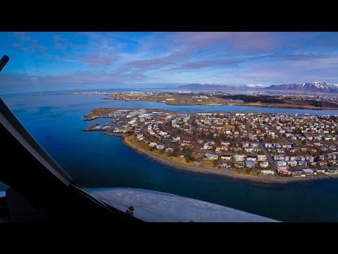 Airbus Final Approach into Scenic Reykjavik