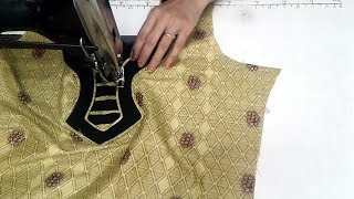 Simple and easy kurti neck design