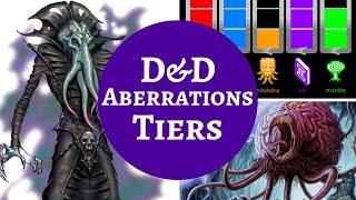 D&D MONSTER RANKINGS - ABERRATIONS thumbnail